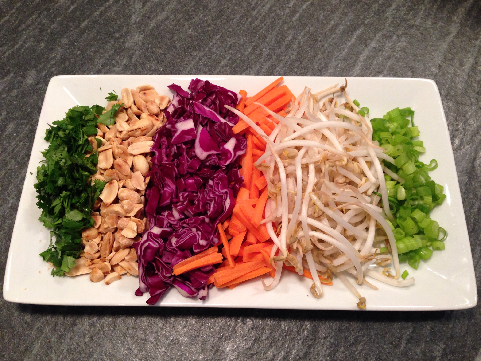 A Colorful Plate Of Pad Thai Toppings Allows Everyone At The Table To  Customize Their Noodle Bowl. With An Emphasis On Fresh Produce, These  Recipes Are As ...