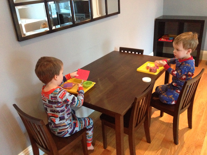 Montessori inspired family room makeover